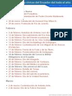 Fechas históricas y cívicas del Ecuador del todo el año (PDF)informacionecuador.com.pdf