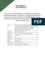 Aguilar - Aprendizaje Colaboratvo, Basado en Problemas y Orientado a Proyctos Para Favorecer Las Habilidades Sociales