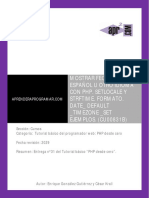CU00831B Mostrar Fecha en Espanol Php Setlocale Strftime Formato Timezone