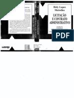 Licitação e Contrato Administrativo - Hely Lopes Meireles(1)