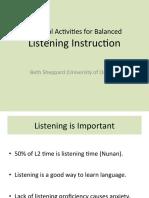 Ractical Activities for Balanced Listening Webinar Slides