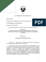 Proyecto Ley Presupuesto 2003
