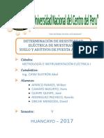 RESISTIVIDAD ELÉCTRICA DE TIERRA NEGRA