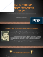 Nancy Thorp Poetry Contest 2017