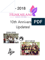 2008-2018 Anniversary Yearbook