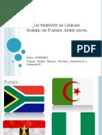 Características Gerais Sobre Os Países Africanos