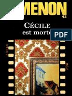 Cecile Est Morte - Georges Simenon