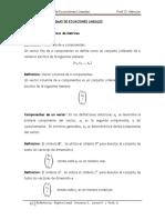 Matrices y Sistemas de Ecuaciones Lineales
