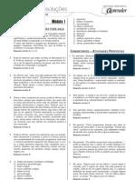 Português - Caderno de Resoluções - Apostila Volume 1 - Pré-Vestibular - port3 aula01