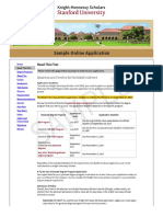 SAMPLE - Do Not Submit - Knight-Hennessy Scholars Online Application