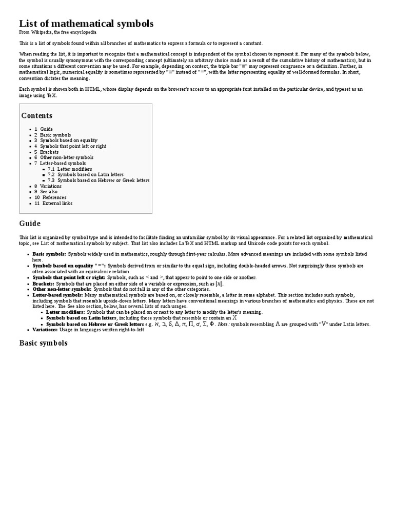 List Of Mathematical Symbols Integral Norm Mathematics
