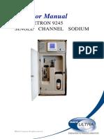 9245 Single Channel on-line Sodium Analyzer-Operator Manual