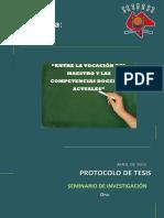La Vocación Del Maestro vs Profesionalización