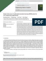 Failure Behaviour of Radial Spherical Plain Bearing (RSPB) Joints For
