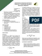 LPractica 4. Transformador Rendimiento y Regulación