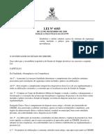 CBMSE Lei 4183 Estabelece e Define Critérios Acerca de Sistemas de Segurança