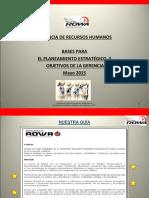 ROWA S.a. Bases Para El Planeamiento Estratégico y Objetivos de La Gerencia de Recursos Humanos