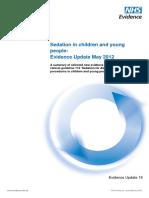 Sedación en Procedimientos Pediatricos