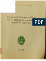 1980-Livros e Livreiros Franceses Em Lisboa Nos Fins de Setecentos e No Primeiro Quartel Do Sculo XIX