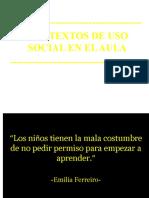 El Nino Ante Los Textos