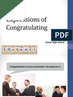 Expressions of Congratulating