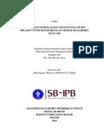 Risk Based Thinking ISO 9001 2015 Di IPB Mhd Hendra WIbowo P056163373.22EK MPPT SB IPB 26-08-2016 (1)