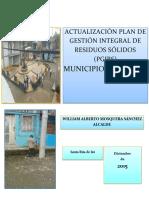 Plan de Gestión Integral de Residuos Sólidos, Municipio de Chocó