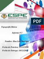 Informe Topografia 4 Jalada de Cotas