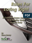 The Rules for Eating Right - Copia