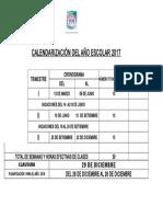 Calendarización 2017 Institución-Educativa-Nuestra-Senora-de-las-Mercedes-Huánuco