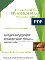 Desarrollo y Aplicación Del Modelo de La Productividad