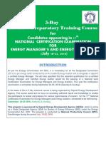 Preparatory Training Course Brochure