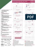 instructional calendar 2017-2018