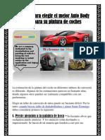 Consejos para elegir el mejor Auto Body Shop para su pintura de coches