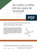 Analisis de Mallas y Nodos mediante Kirchhoff