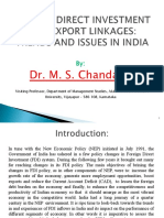 PPT FDI and Export Linkages Trends and Issues in India