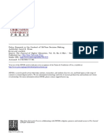 Policy Research in the Context of Diffuse Decision Making