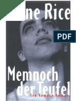 Rice Anne - Memnoch Der Teufel