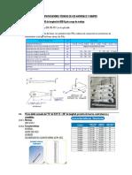 Especificaciones Técnicas de Los Materiales y Equipos