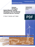 Costs and Emissions Associated With PHEV in the Xcel Energy Colorado Service Territory