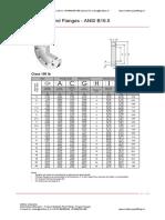 ANSI B16.5 Flanges