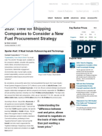 2020 Time for Shipping Companies to Consider a New Fuel Procurement Strategy - Ship & Bunker