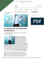 """O Conceito de """"Ecossistema de Negócios"""" _ MATERA Systems"""