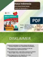 Power Point Pembelajaran Bahasa Indonesia XI A.pptx