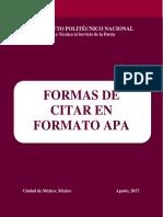 IPN Formas de citar en formato APA.