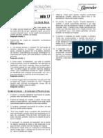 Português - Caderno de Resoluções - Apostila Volume 4 - Pré-Universitário - port1 aula17