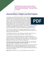 Diet Plan General Motors[1]