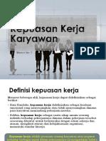 Materi 7 Kepuasan Kerja Karyawan