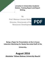 Use of communication for academic matters  by Prof. Mansur U. Malumfashi