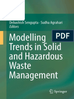 Debashish Sengupta, Sudha Agrahari Eds. Modelling Trends in Solid and Hazardous Waste Management